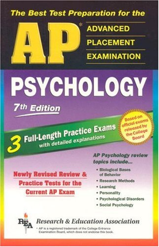 9780738600673: AP Psychology 7th Edition (REA) - The Best Test Prep for the AP Exam (Advanced Placement (AP) Test Preparation)