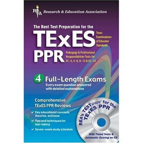 9780738600680: TExES PPR w/ CD-ROM (REA) - The Best Test Prep for the TExES (Test Preps)