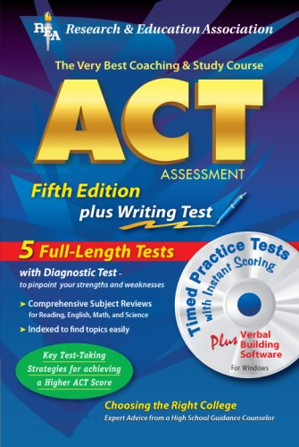ACT Assessment 5th. Ed. w/CD-ROM (REA) -: Charles O. Brass,