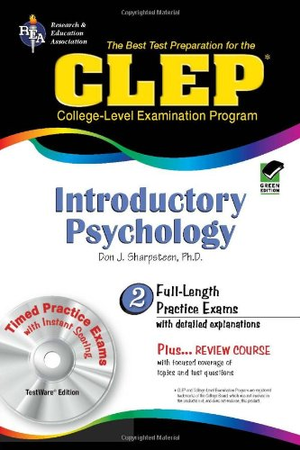 CLEP: Introductory Psychology, TestWare Edition (Book & CD-ROM): Don J. Sharpsteen Ph.D.