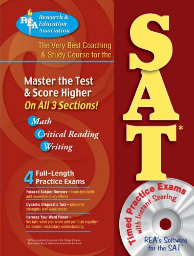 SAT w/ CD-ROM (REA) - The Very Best Coaching & Study Course (SAT PSAT ACT (College Admission) Prep) (0738600911) by Robert Bell; Suzanne Coffield SAT Preparation Instructor; Dr. Anita Price Davis Ed.D.; George DeLuca SAT Skills Consultant; Joseph Fili; Marilyn...