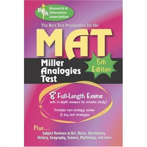 MAT -- The Best Test Preparation for: Editors of REA,