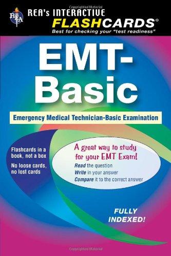 9780738601236: EMT-Basic - Interactive Flashcards Book for EMT (REA) (REA Test Preps), Not the Premium Edition