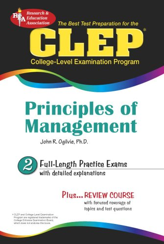 9780738601243: CLEP Principles of Management (REA) - The Best Test Prep for (CLEP Test Preparation)