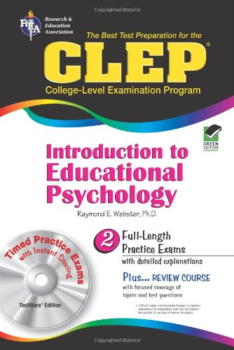 9780738601298: CLEP® Introduction to Educational Psychology w/CD (CLEP Test Preparation)