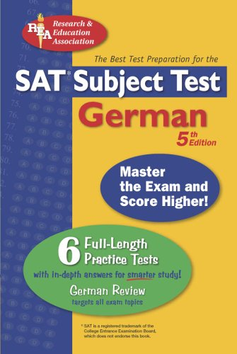 9780738601601: SAT Subject Test: German (REA) -- The Best Test Prep for the SAT