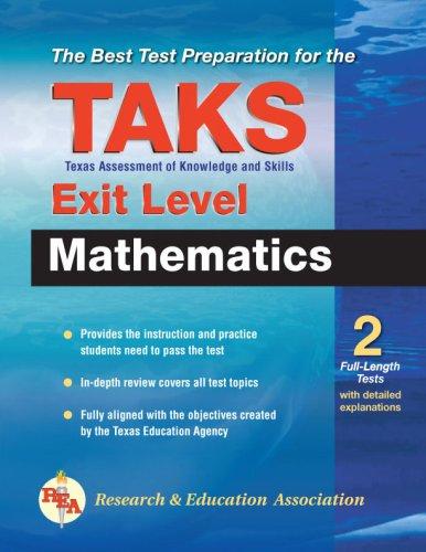 9780738601953: Texas TAKS Exit Level Mathematics (REA) - The Best Test Prep (Test Preps)