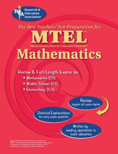 9780738602011: mtel mathematics (fields 053, 047 and 09) (mtel