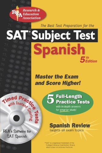"SAT Subject Testâ""¢: Spanish w/CD (SAT PSAT ACT (College Admission) Prep) (English and Spanish Edition) (0738602523) by Hammitt, G. M.; Mouat, Ricardo Gutierrez; Stivers, W.; Munoz Page, Mary Ellen; Spanish Study Guides"