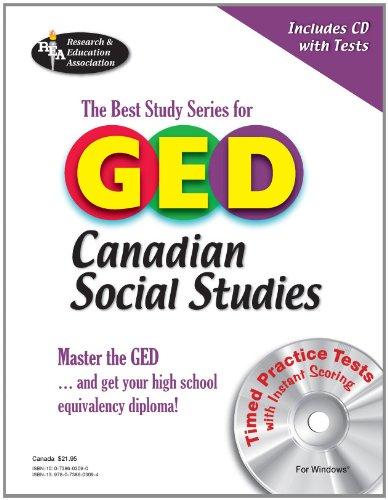 9780738603094: GED® Canadian Social Studies w/ CD-ROM (GED Test Preparation)