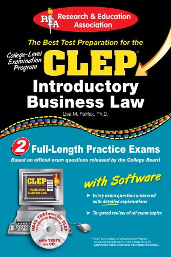 9780738603162: CLEP® Introductory Business Law with CD (CLEP Test Preparation)