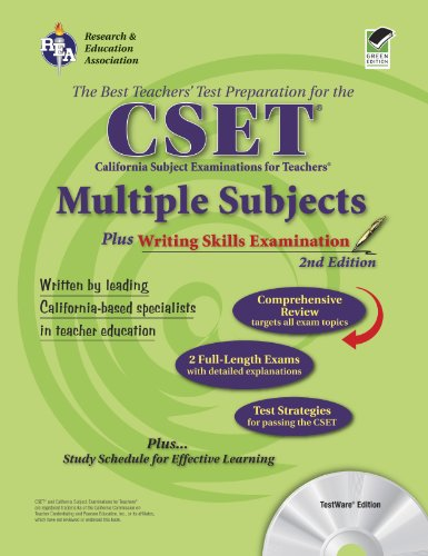 Calif. CSET: Multiple Subjects/Writing w/CD (REA): 2nd Edition (CSET Teacher Certification Test Prep) (073860335X) by DenBeste Ph.D., Michelle; Charney, Jean O.; Jordine Ph.D., Melissa; Love M.A.T., James L; Mullins Ph.D., Maire; Nickel Ph.D., Ted; Yan Ph.D., Jin H.