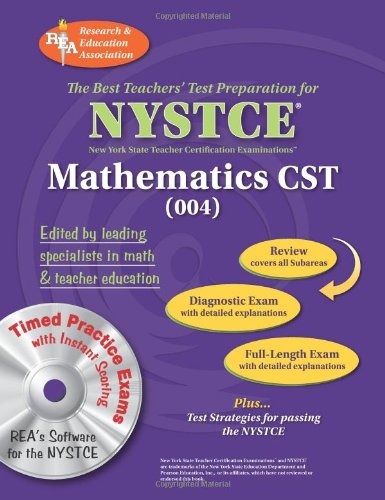 9780738603674: NYSTCE Content Specialty Test Mathematics (004) w/CD (NYSTCE Teacher Certification Test Prep)