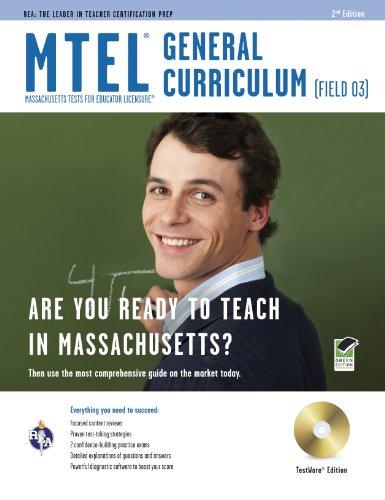 9780738604107: Massachusetts MTEL General Curriculum (Field 03) w/CD-ROM (MTEL Teacher Certification Test Prep)