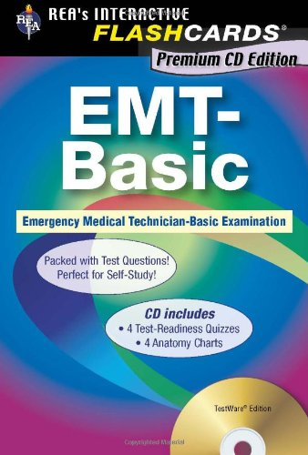 9780738604596: EMT-Basic - Interactive Flashcards Book for EMT (REA), Premium Edition incl. CD-ROM