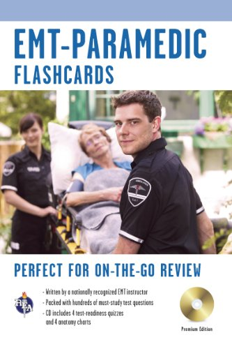 9780738604626: EMT-Paramedic Premium Edition Flashcard Book w/CD (EMT Test Preparation)
