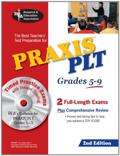 9780738604770: PRAXIS II PLT Grades 5-9 w/CD-ROM (PRAXIS Teacher Certification Test Prep)