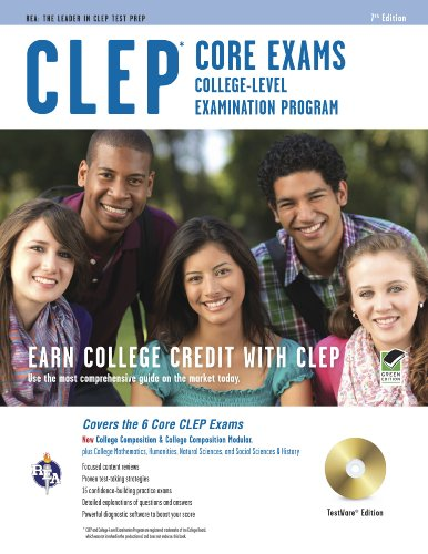 CLEP Core Exams w/ CD-ROM (CLEP Test Preparation) (0738604879) by Dominic Marullo; Rachelle Smith; Dr. Ken Springer PhD; Mel Friedman M.S.; Laurie Ann Callihan Ph.D.; David Callihan M.S.; Scott Dittloff; Patricia...