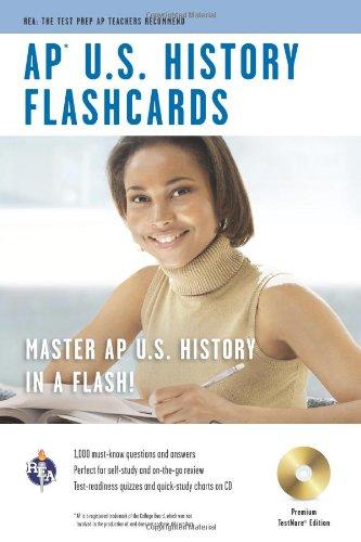 9780738605036: AP® U.S. History Premium Edition Flashcard Book w/ CD (Advanced Placement (AP) Test Preparation)