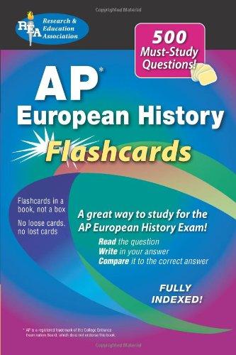9780738605074: Advanced Placement European History Flashcard