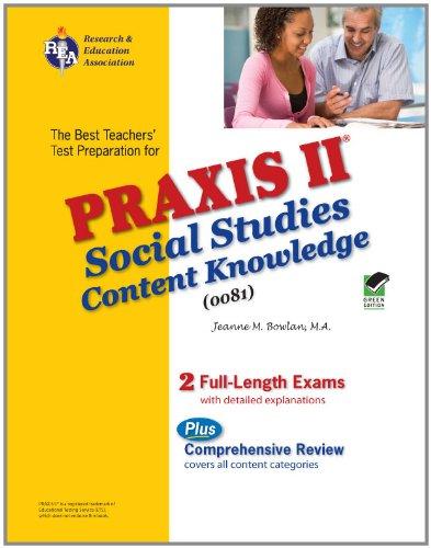 9780738605098: Praxis II Social Studies: Content Knowledge (0081) (PRAXIS Teacher Certification Test Prep)