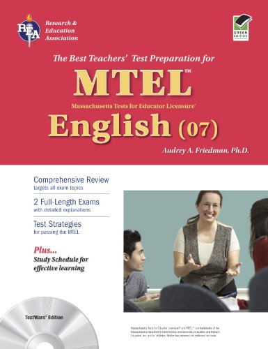 9780738605401: massachusetts mtel english (07) with cd (mtel teacher ...