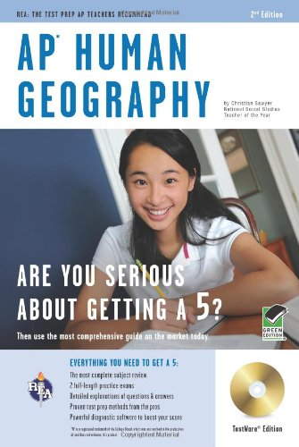 9780738606316: AP Human Geography w/ CD-ROM (Advanced Placement (AP) Test Preparation)