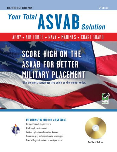 9780738606439: ASVAB w/CD-ROM 7th Ed.: Your Total Solution (Military (ASVAB) Test Preparation)