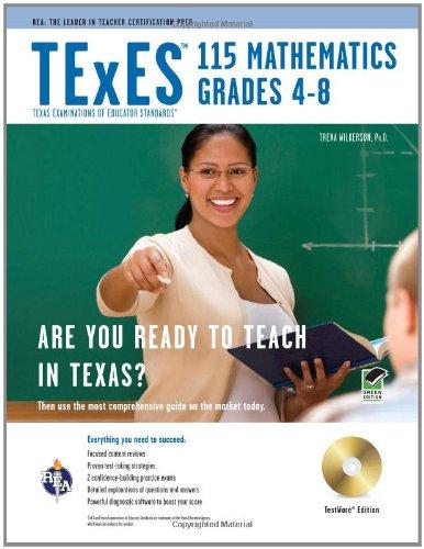 9780738606453: TExES 115 Mathematics 4-8 w/CD-ROM (TExES Teacher Certification Test Prep)