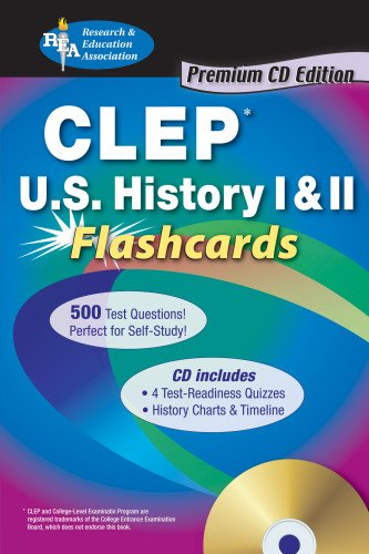 CLEP History of the United States I II Flashcards (Mixed media product): Mark Bach