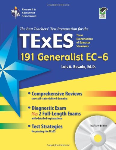 9780738606859: Texas TExES Generalist EC-6 (191) with CD-ROM (TExES Teacher Certification Test Prep)