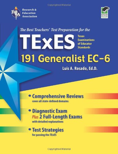 9780738606866: Texas TExES Generalist EC-6 (191) (TExES Teacher Certification Test Prep)