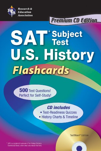 "SAT Subject Testâ""¢: U.S. History Flashcards (SAT PSAT ACT (College Admission) Prep) (0738607053) by Bach, Mark; US History Study Guides"