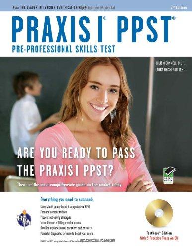 9780738608815: Praxis I PPST (Pre-Professional Skills Test) w/CD (PRAXIS Teacher Certification Test Prep)