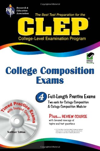 9780738608891: CLEP College Composition & College Composition Modular w/CD-ROM (CLEP Test Preparation)