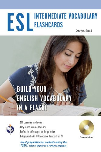ESL Vocabulary Flashcards w/Audio CD (English as a Second Language Series): Editors of REA