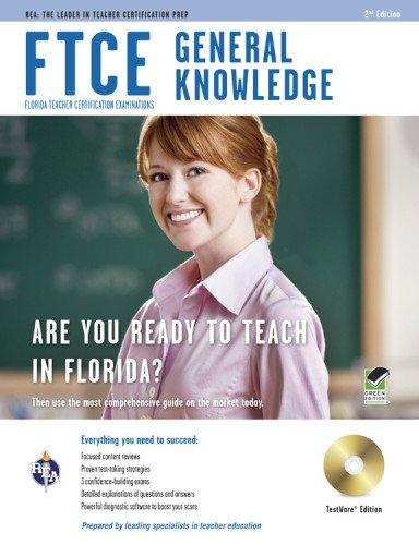 9780738609485: FTCE General Knowledge w/ CD-ROM (FTCE Teacher Certification Test Prep)
