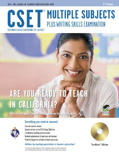 CSET Multiple Subjects Plus Writing Skills w/CD-ROM (CSET Teacher Certification Test Prep) (0738609986) by DenBeste Ph.D., Michelle; Charney, Jean O.; Jordine Ph.D., Melissa; Love M.A.T., James L; Mullins Ph.D., Maire; Nickel Ph.D., Ted; Yan Ph.D., Jin H.