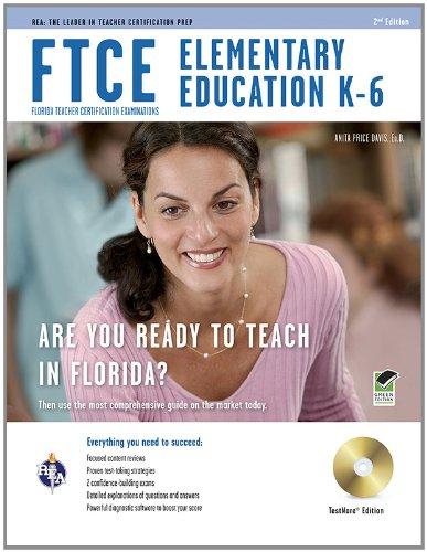 9780738610085: FTCE Elementary Education K-6 w/ CD-ROM (FTCE Teacher Certification Test Prep)