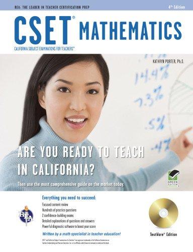 9780738610313: CSET Mathematics Test w/ CD (CSET Teacher Certification Test Prep)
