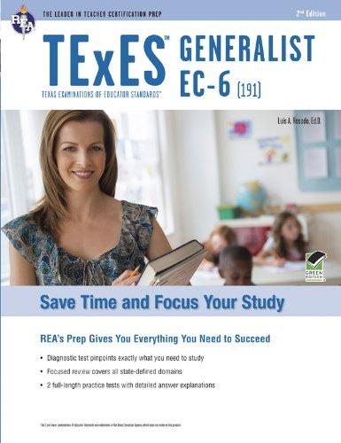 9780738610504: TExES 191 Generalist EC-6 (Rea Teacher Certification Prep)