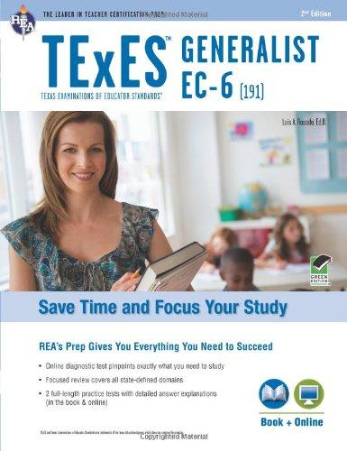 9780738610511: TExES Generalist EC-6 (191) Book + Online (TExES Teacher Certification Test Prep)