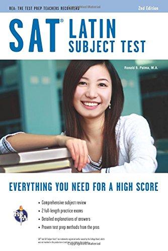 9780738610764: SAT Subject Test : Latin (SAT PSAT ACT (College Admission) Prep)