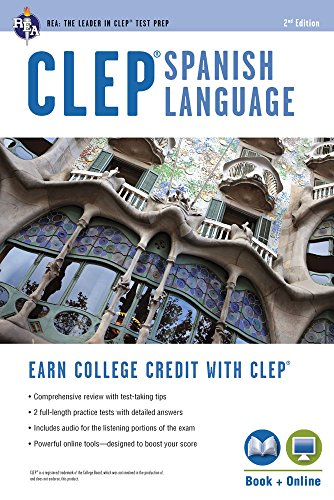 9780738610894: CLEP® Spanish Language Book + Online (CLEP Test Preparation) (English and Spanish Edition)