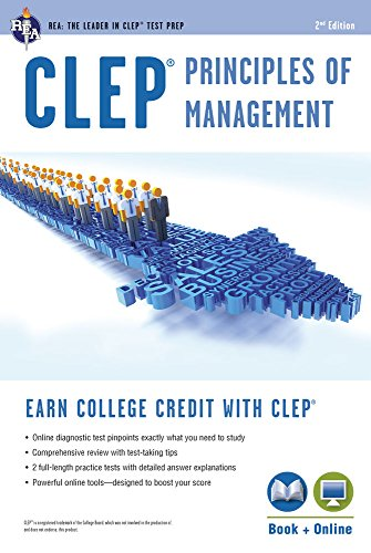 9780738610900: CLEP® Principles of Management Book + Online (CLEP Test Preparation)