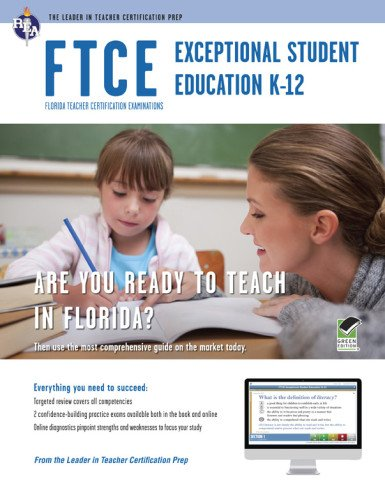 9780738611433: FTCE Exceptional Student Education K-12 Book + Online (FTCE Teacher Certification Test Prep)