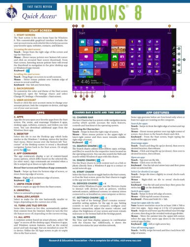 9780738611488: Quick Access Windows 8 (Quick Access Reference Charts)