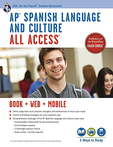 9780738611556: AP® Spanish Language and Culture All Access w/Audio: Book + Online + Mobile (Advanced Placement (AP) All Access) (English and Spanish Edition)