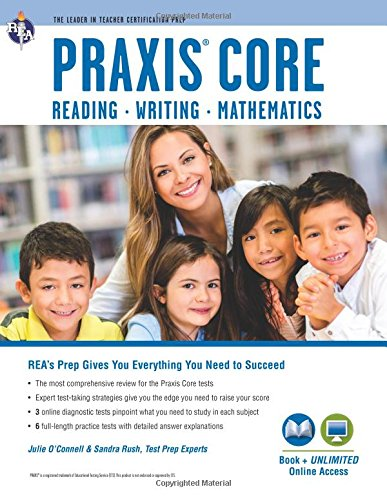 9780738611808: Praxis Core Academic Skills for Educators Tests: Book + Online (PRAXIS Teacher Certification Test Prep)