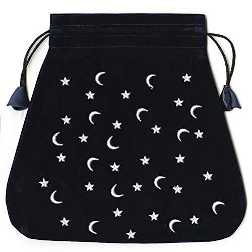 9780738709697: Moon and Stars Velvet Bag (Bolsas de Lo Scarabeo Tarot Bags From Lo Scarabeo)